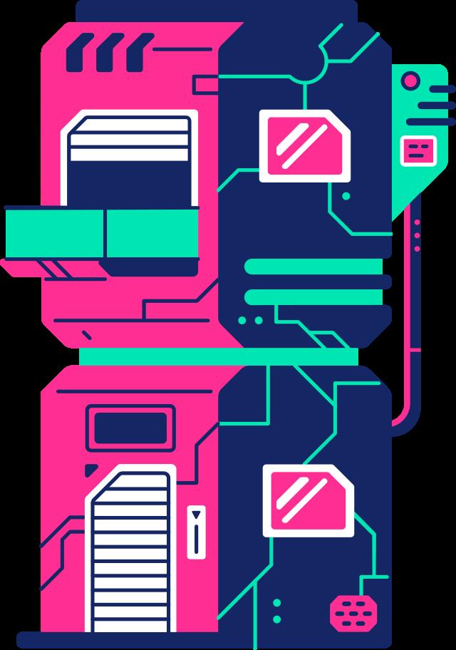 robot house Clipart illustration in PNG, SVG