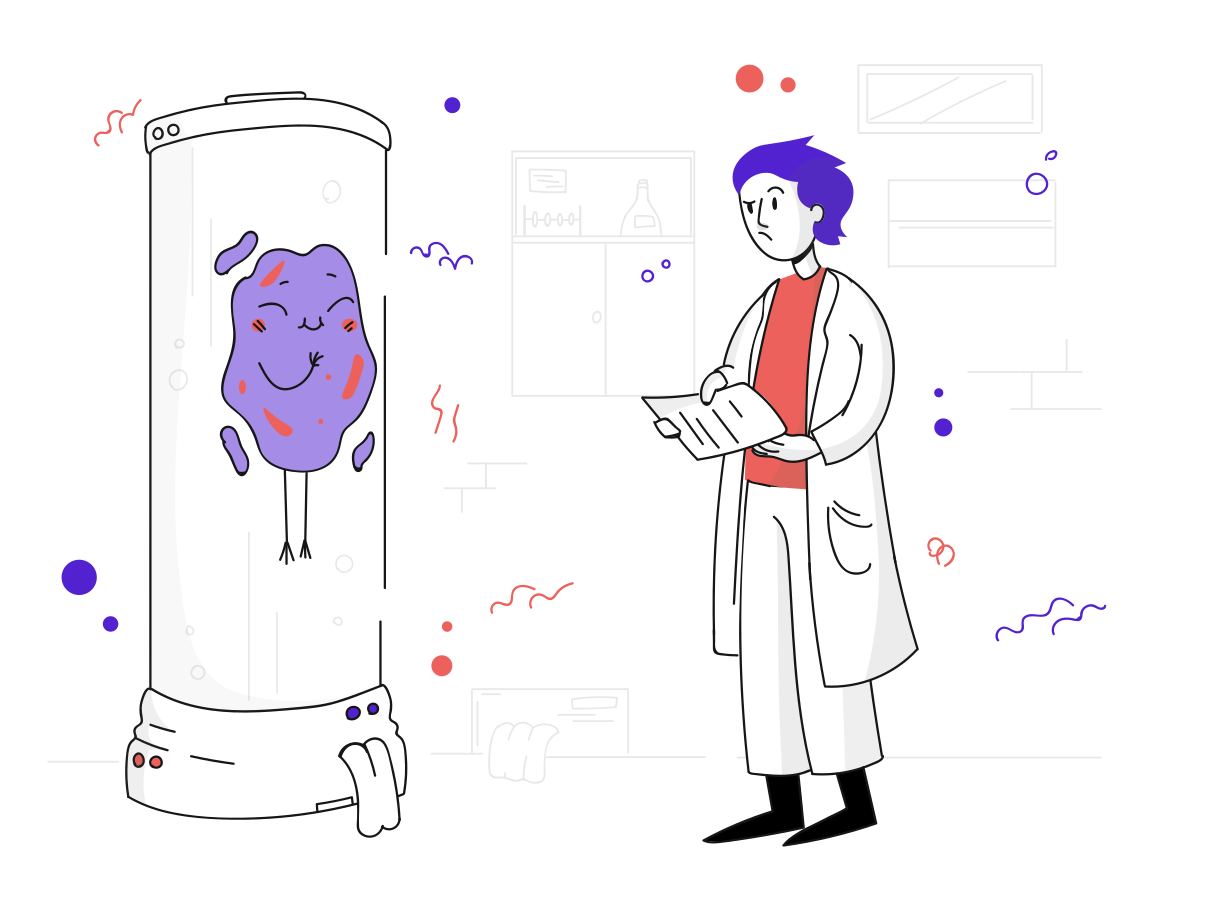 Working in a laboratory Clipart illustration in PNG, SVG