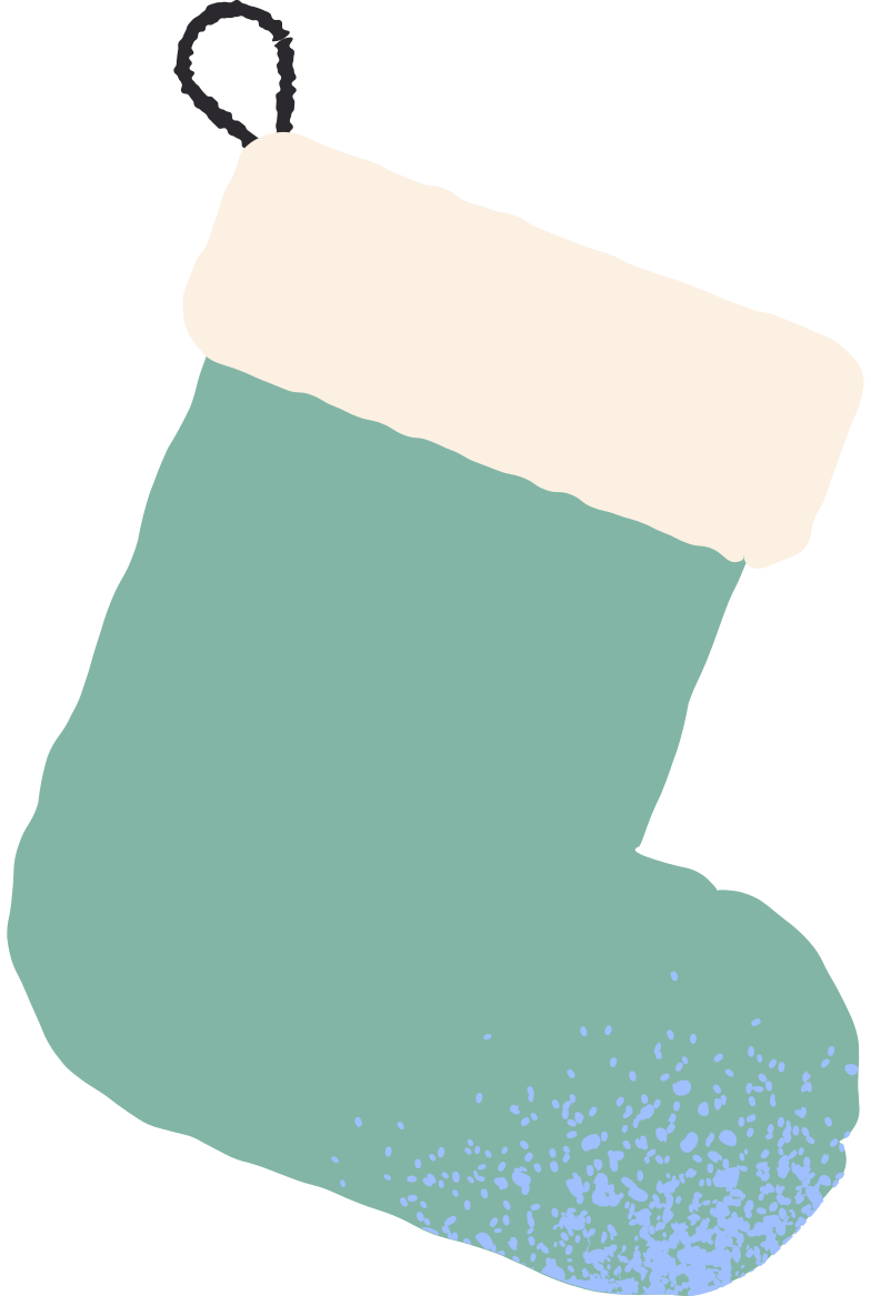green stocking Clipart illustration in PNG, SVG
