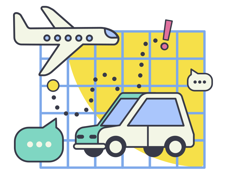 Travel planing Clipart illustration in PNG, SVG