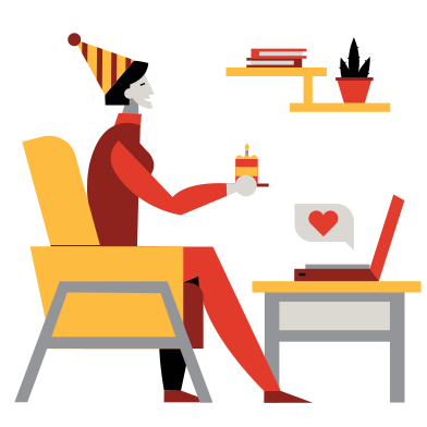 style Remote Birthday party images in PNG and SVG | Icons8 Illustrations
