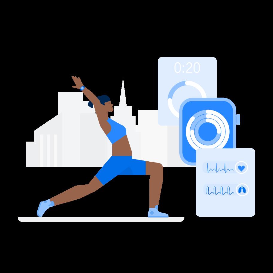 Intelligente fitness Clipart-Grafik als PNG, SVG