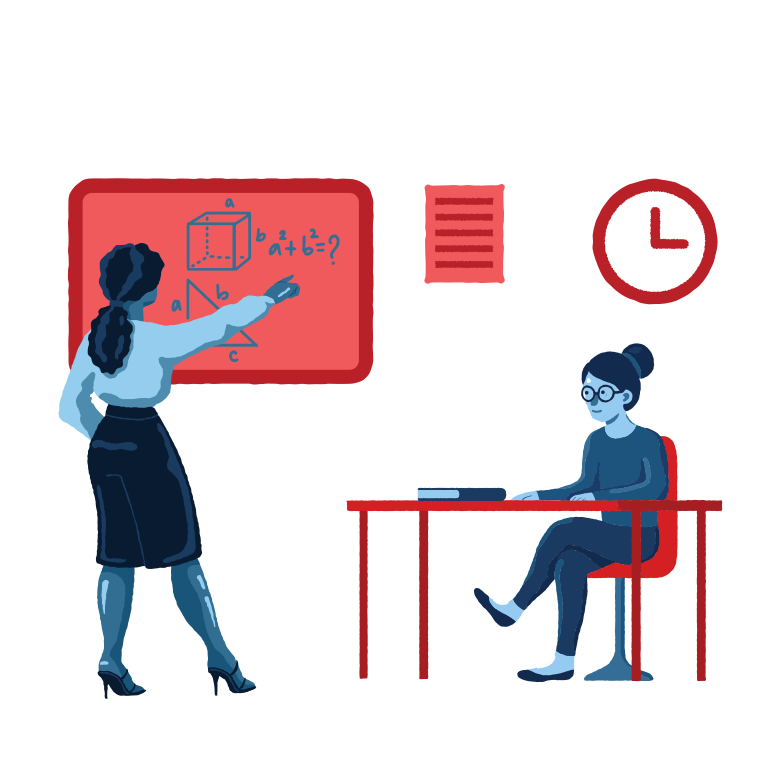style Teacher and pupil in the class Vector images in PNG and SVG | Icons8 Illustrations