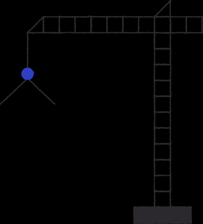 construction crane Clipart illustration in PNG, SVG