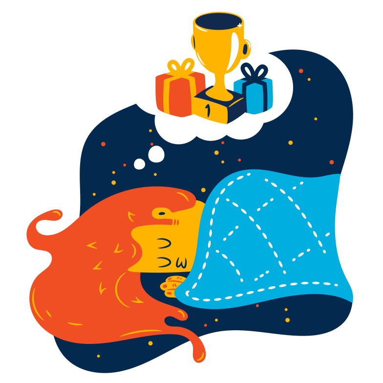 Dream of victory Clipart illustration in PNG, SVG