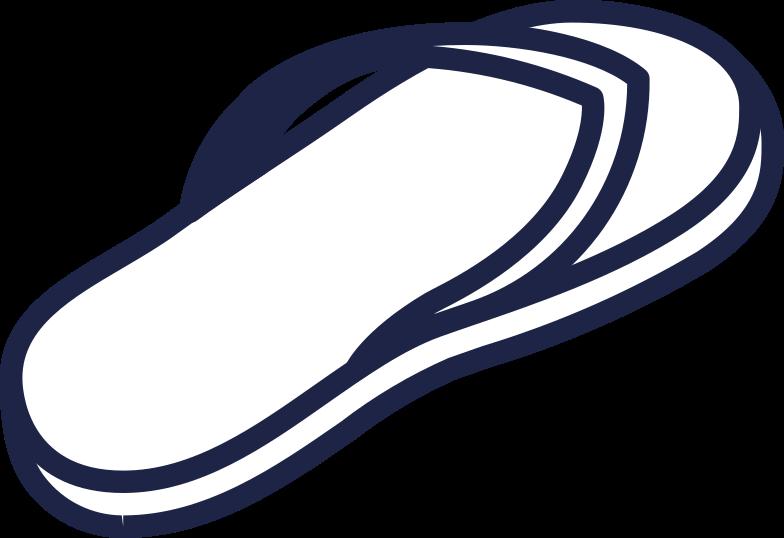 flipflops 1 line Clipart illustration in PNG, SVG