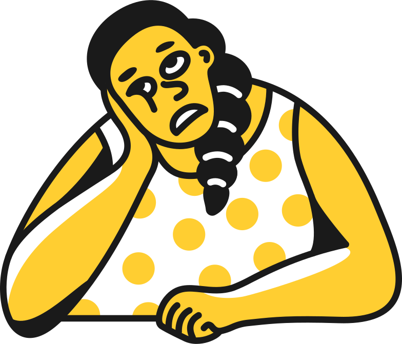 bored woman Clipart illustration in PNG, SVG