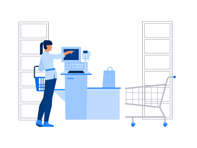 style Supermarket Self Service images in PNG and SVG | Icons8 Illustrations