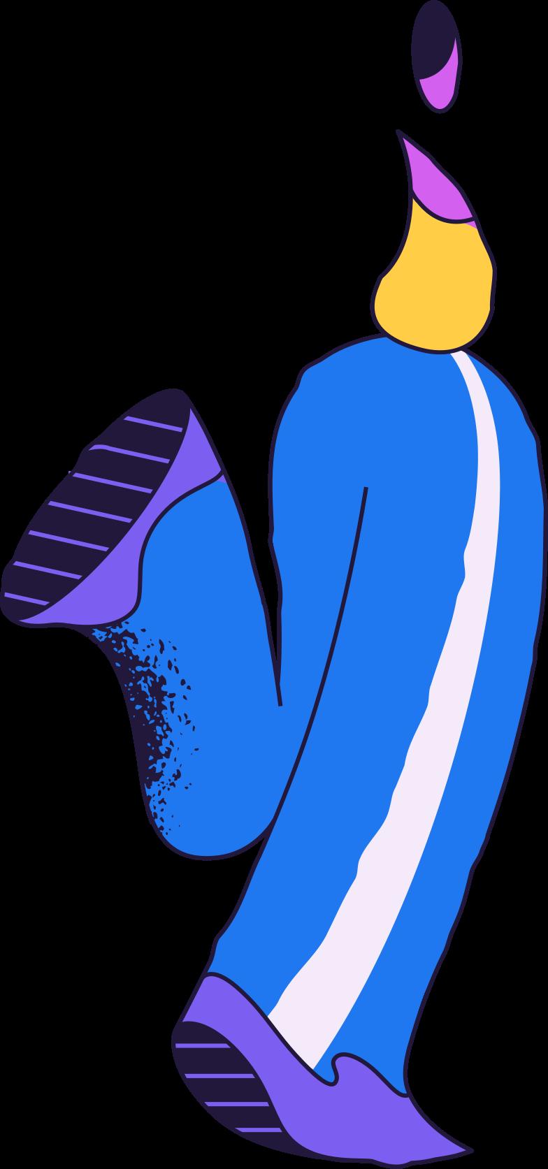 fatal error  running person Clipart illustration in PNG, SVG