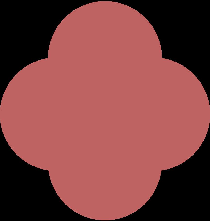 quatrefoil burgundy Clipart illustration in PNG, SVG