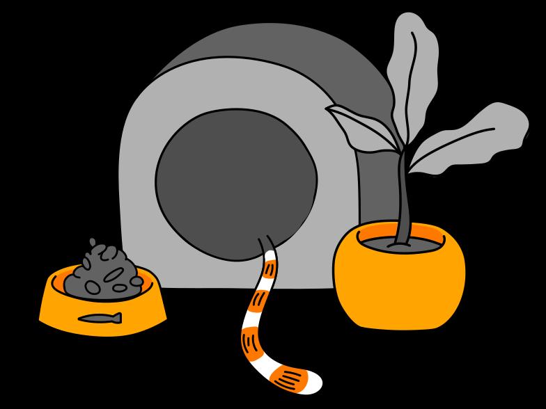 Cat's corner Clipart illustration in PNG, SVG