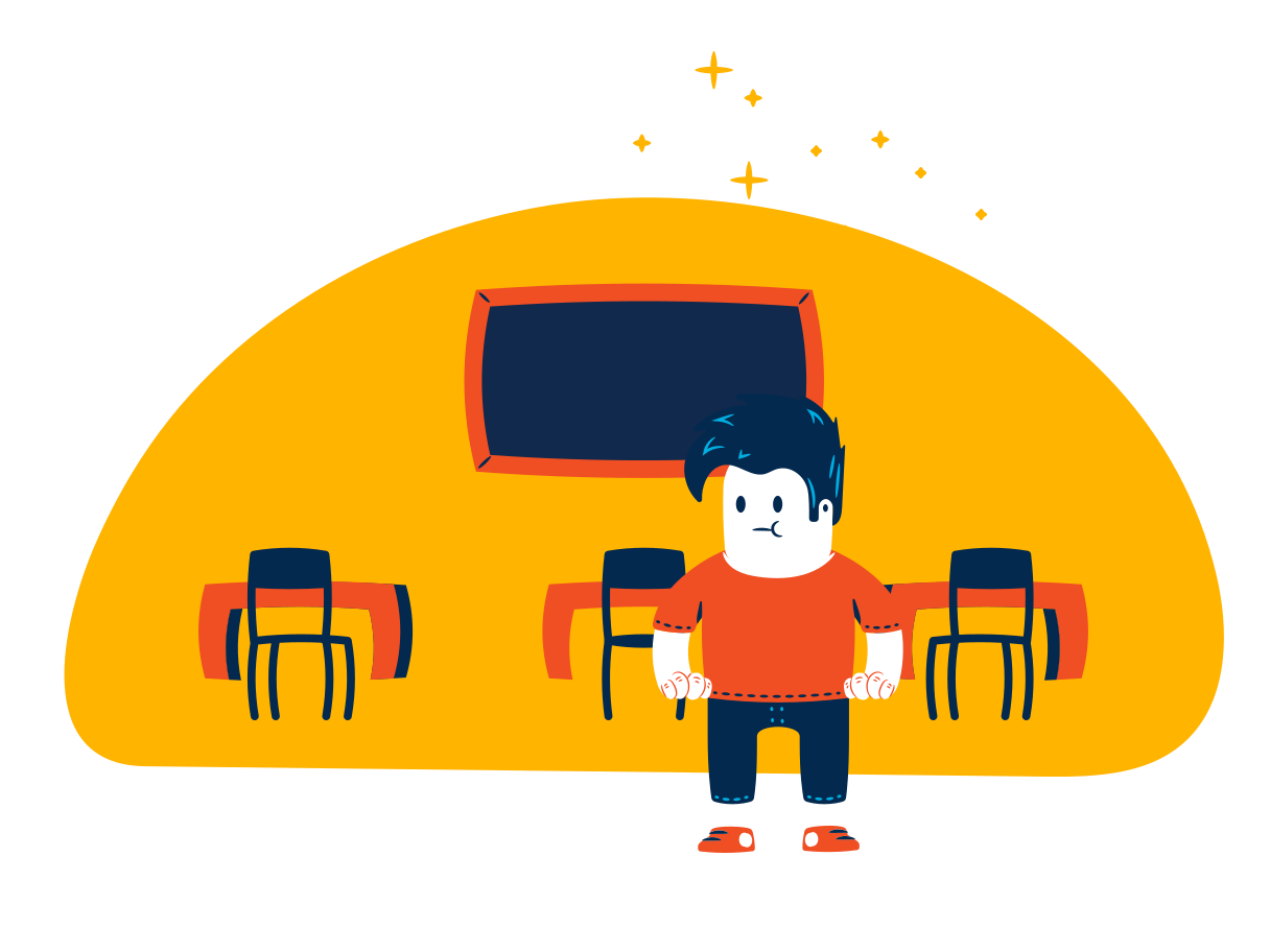 School classroom Clipart illustration in PNG, SVG