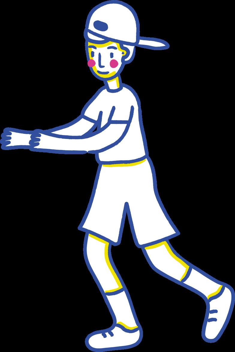 running boy Clipart illustration in PNG, SVG