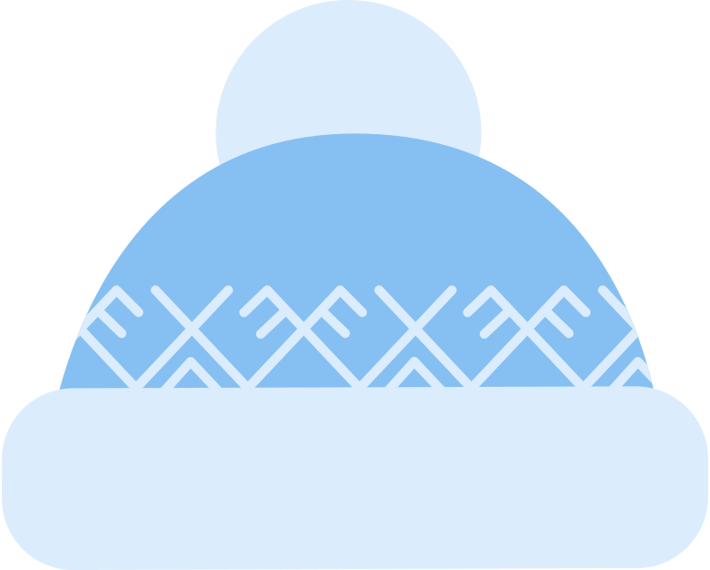 bobble hat decorated Clipart illustration in PNG, SVG