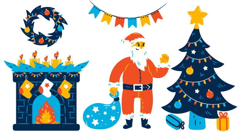 Merry Christmas! Clipart illustration in PNG, SVG