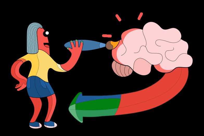 Self-development Clipart illustration in PNG, SVG