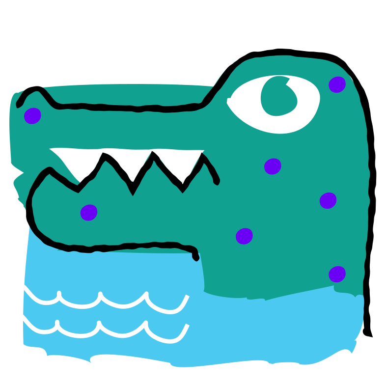 Сrocodile Clipart illustration in PNG, SVG