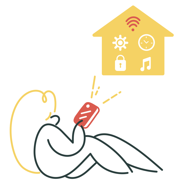 Smart house interface Clipart illustration in PNG, SVG