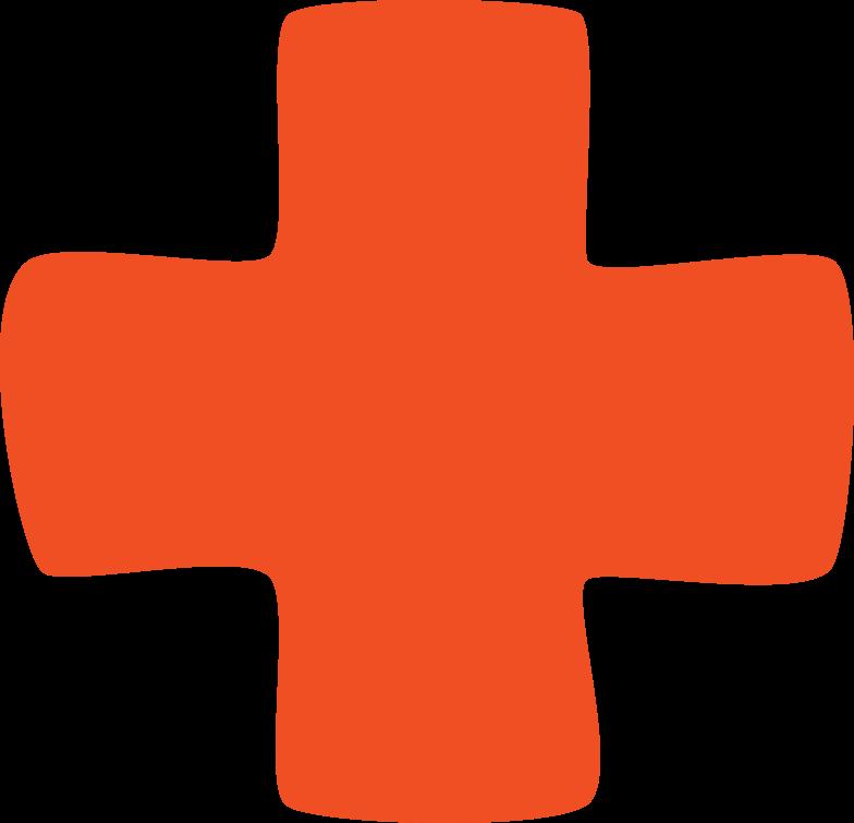 Ilustración de clipart de forma de cruz en PNG, SVG