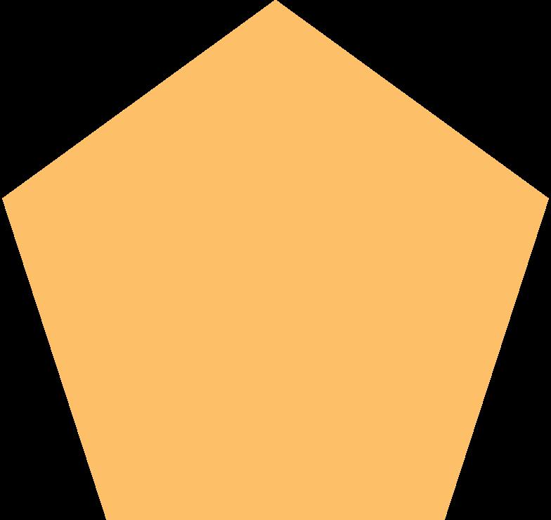 pentagon orange Clipart illustration in PNG, SVG