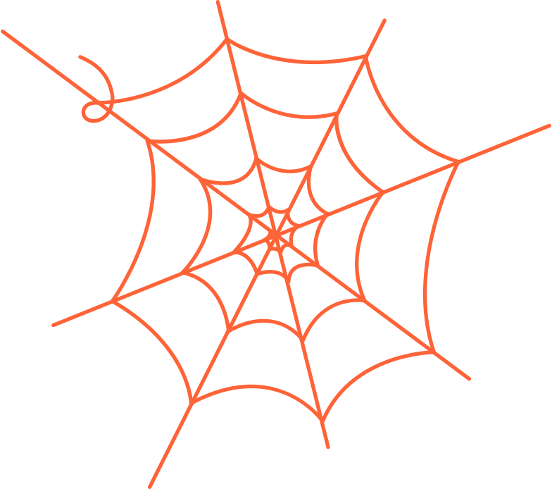 spiderweb Clipart illustration in PNG, SVG