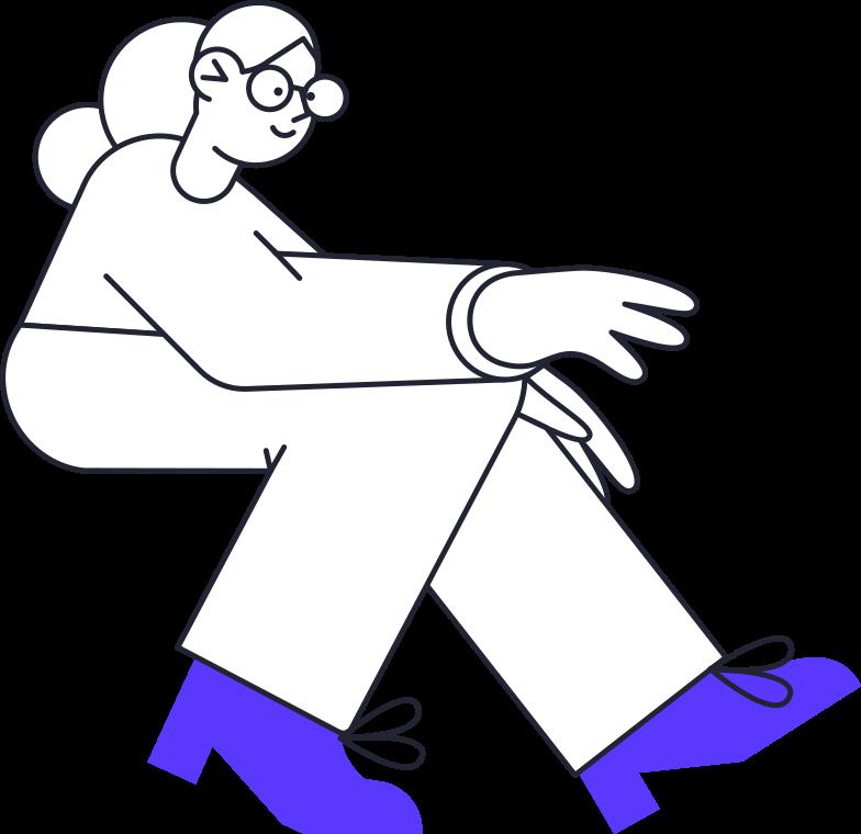 Mulher olhando para laptop Clipart illustration in PNG, SVG