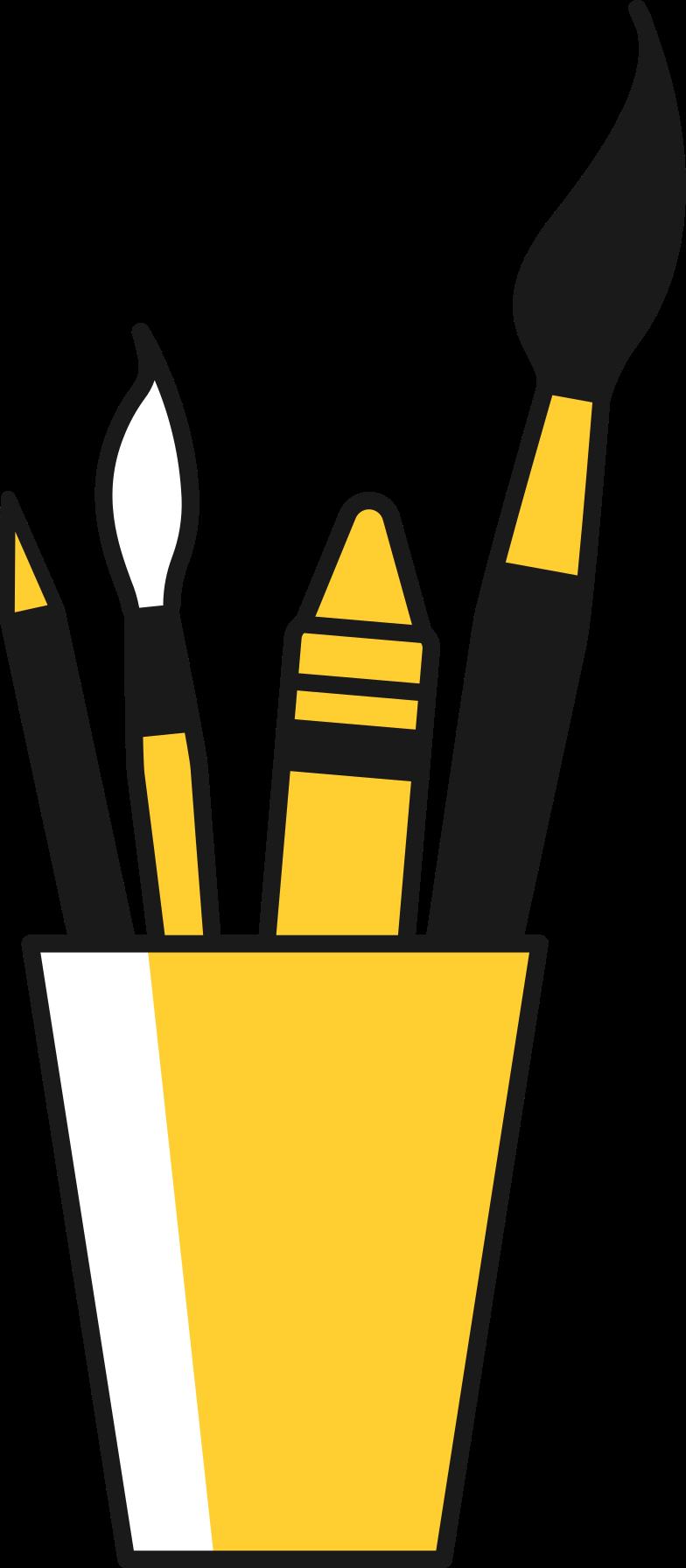 Copo de material de arte Clipart illustration in PNG, SVG
