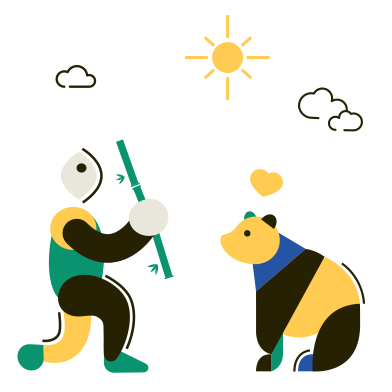 style Panda and bamboo images in PNG and SVG | Icons8 Illustrations