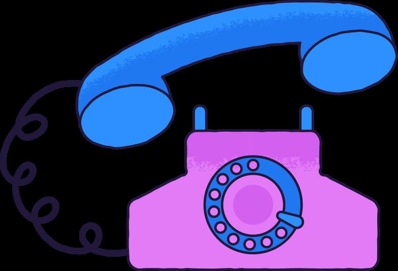 Illustration clipart Vieux téléphone aux formats PNG, SVG