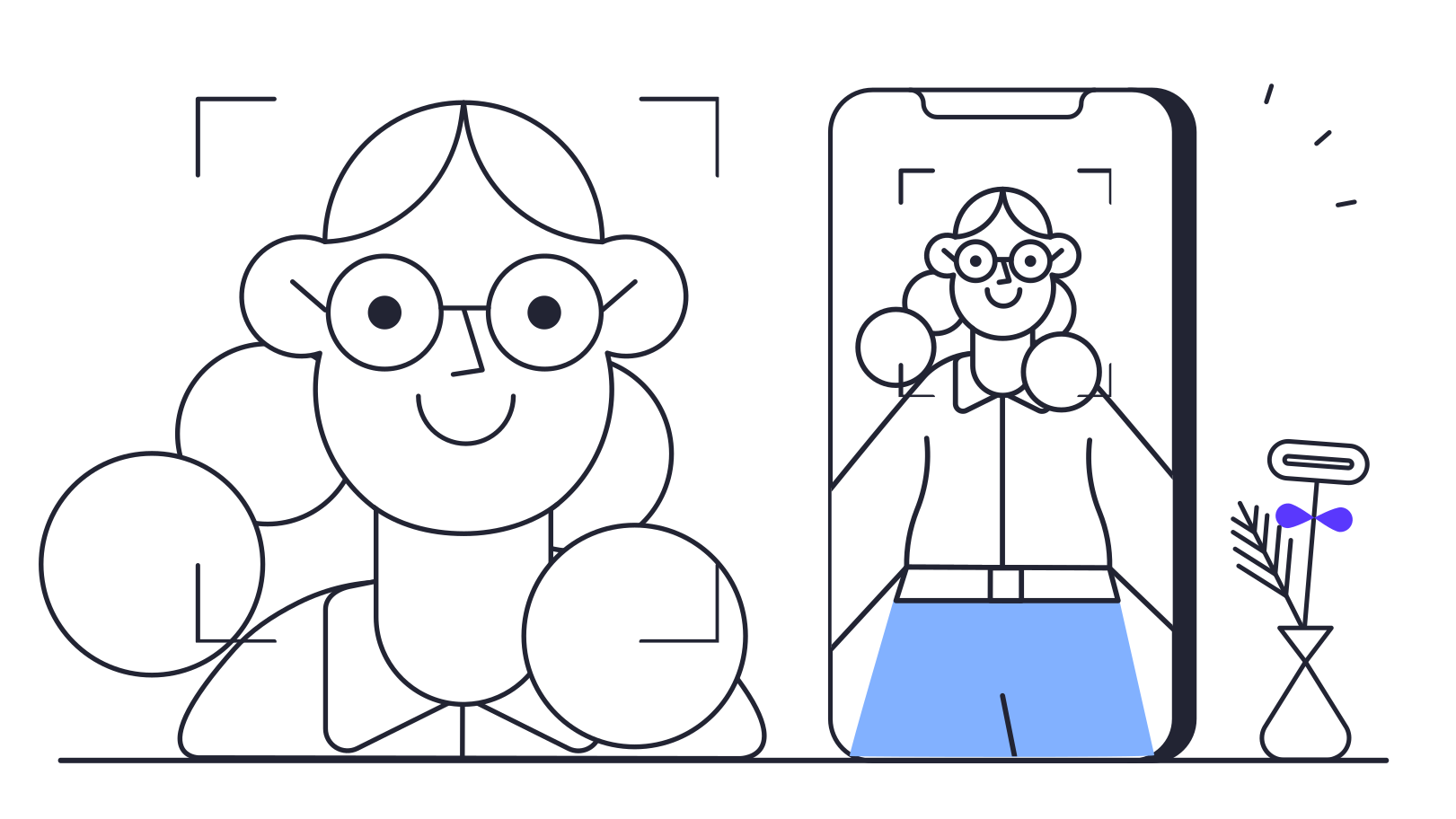 Face ID Clipart illustration in PNG, SVG