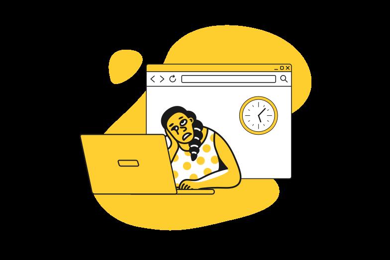 Slow internet Clipart illustration in PNG, SVG