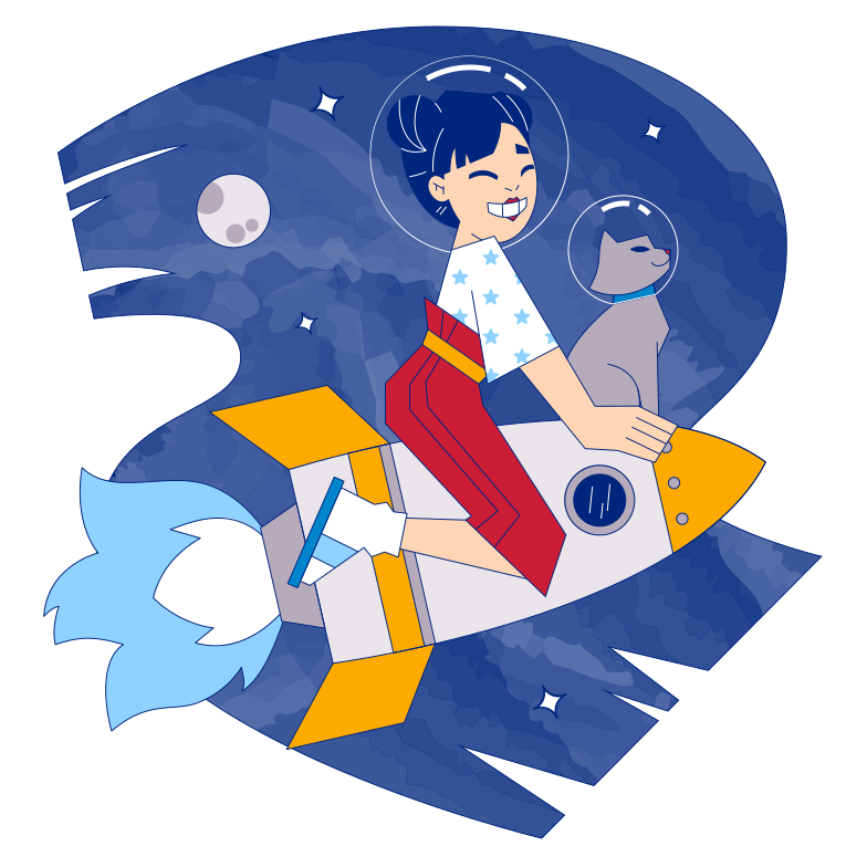Cosmic adventure Clipart illustration in PNG, SVG