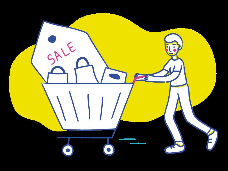 PNGとSVGの  スタイルの ショッピングマン ベクターイメージ | Icons8 イラスト
