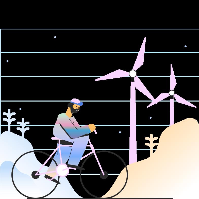 Ilustración de clipart de ciclismo en PNG, SVG
