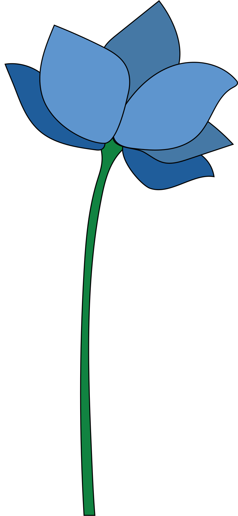 style blue flower Vector images in PNG and SVG | Icons8 Illustrations