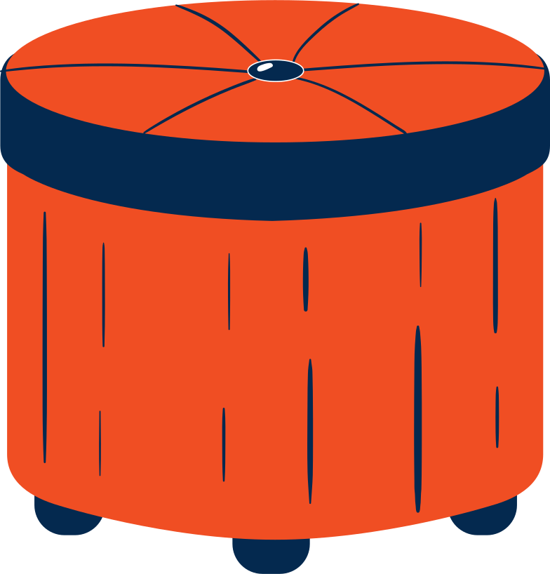 ottoman Clipart illustration in PNG, SVG
