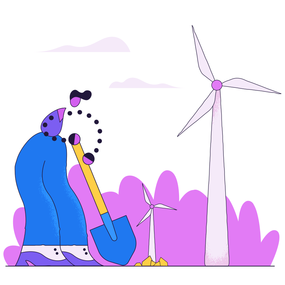 style Windmill planting Vector images in PNG and SVG | Icons8 Illustrations