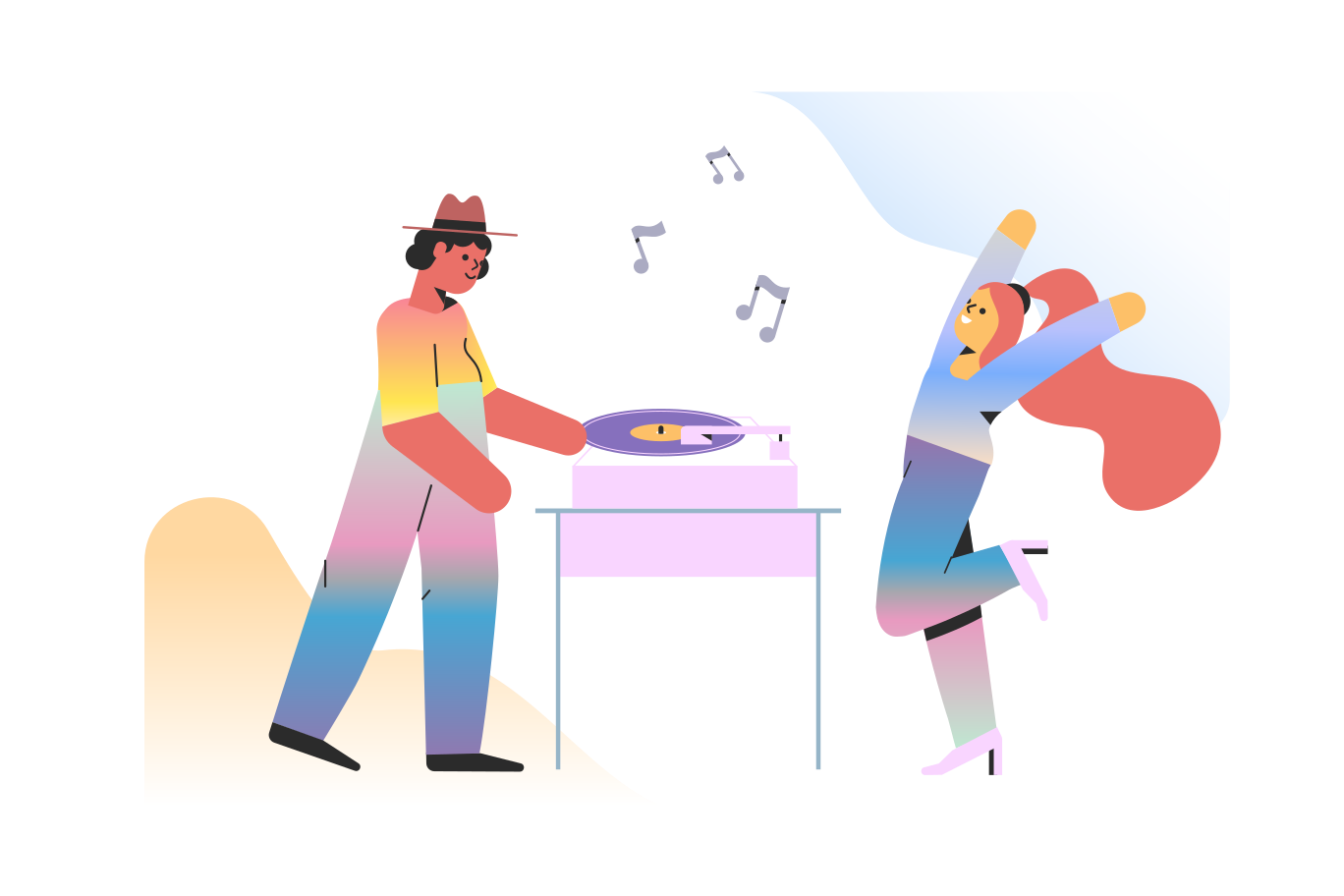 DJ at the party  Clipart illustration in PNG, SVG