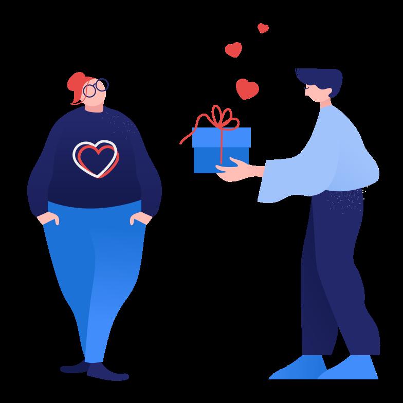 Valentine's gift Clipart illustration in PNG, SVG