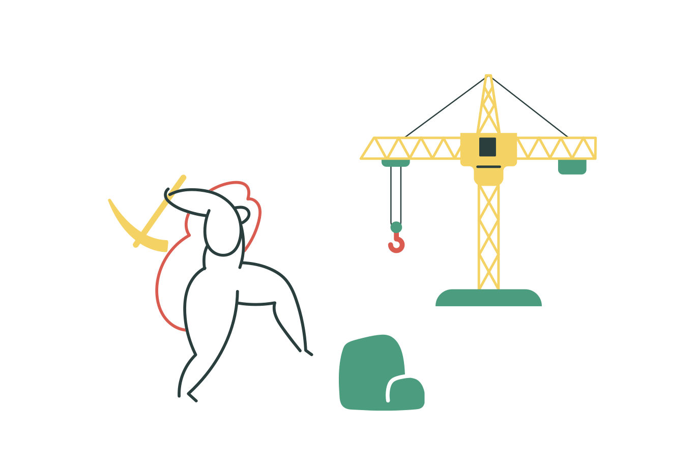 Construction process Clipart illustration in PNG, SVG
