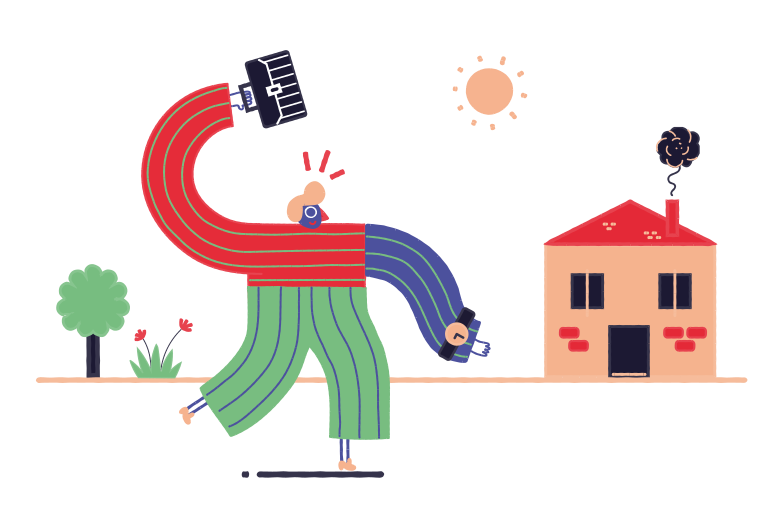 Hurry home Clipart illustration in PNG, SVG