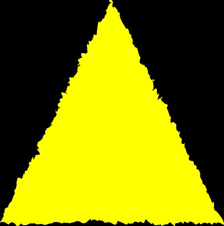 Illustration clipart Triangle jaune aux formats PNG, SVG