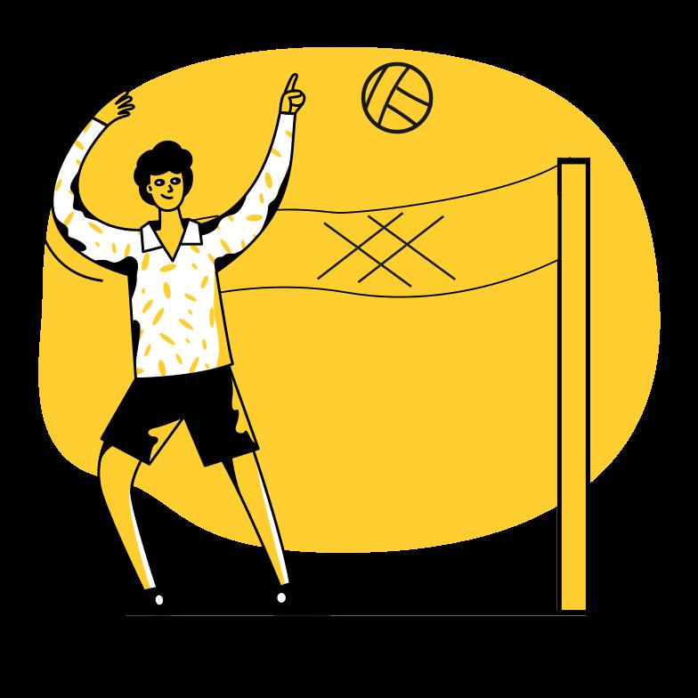 Ilustración de clipart de Volleyball en PNG, SVG
