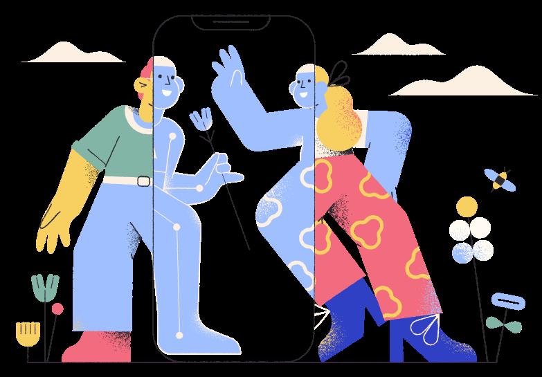 Online dating Clipart illustration in PNG, SVG