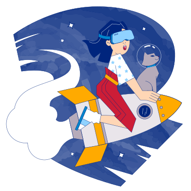 style Cosmic VR adventure images in PNG and SVG | Icons8 Illustrations