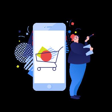 Иллюстрация онлайн шоппинг в стиле  в PNG и SVG | Icons8 Иллюстрации
