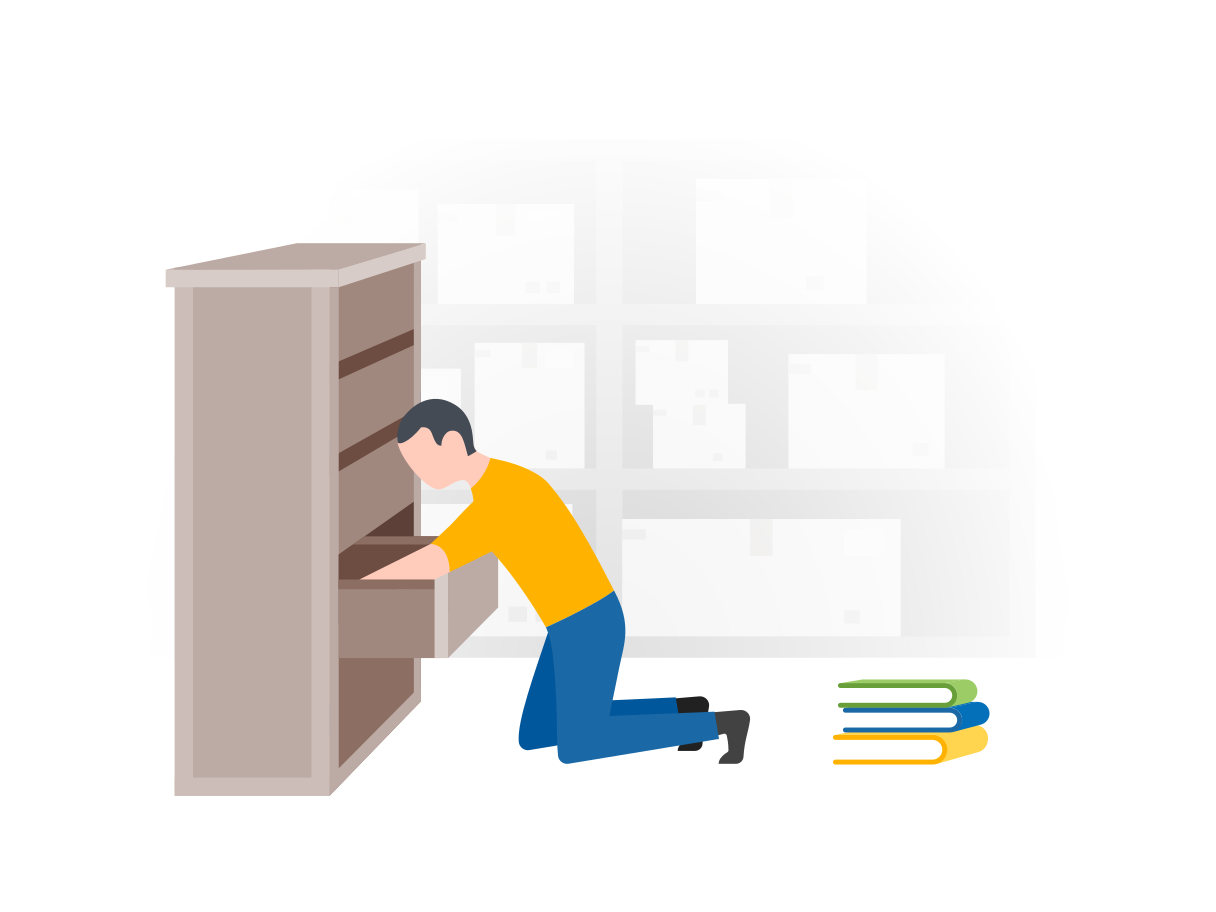 Searching a book Clipart illustration in PNG, SVG