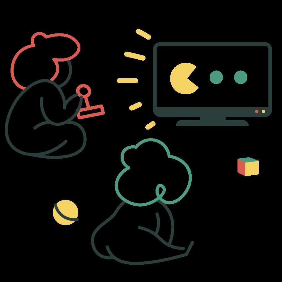 Tv addiction Clipart illustration in PNG, SVG