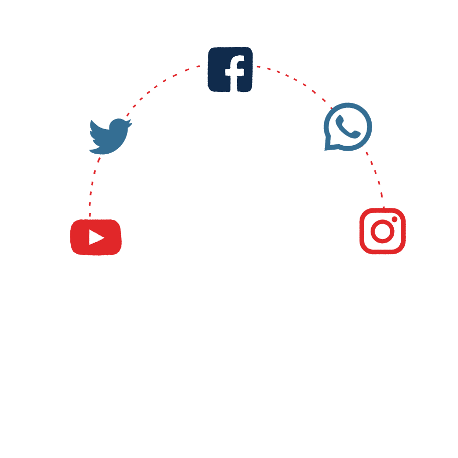 Social Media Addiction Clipart illustration in PNG, SVG