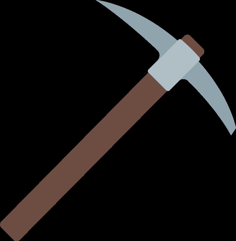 Ilustración de clipart de pickaxe en PNG, SVG